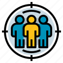 focus, group, marketing, target icon