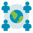 business, global, network, team icon