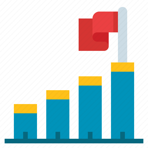 barchart, charts, profit, progress icon