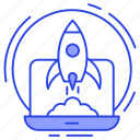 beginning, commencement, initiation, launch, startup icon