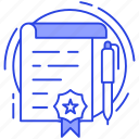 deed, document, invoice, itemized bill, receipt, statement icon
