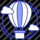 air balloon, air travel, airship, hot air balloon, parachute balloon icon