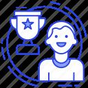 achievement, award, motivation, reward, success icon