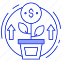 dollar plant, financial growth, growing business, money growth, money plant icon