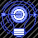 aim, business goal, goal, objective, target icon