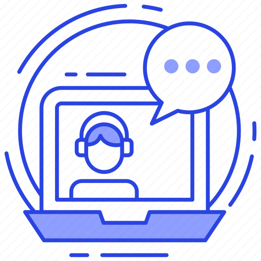 customer support chat, help desk chat, live chat, online consulting, online support solutions icon