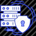 data protection, data server protection, server lock, server protection, server safety icon