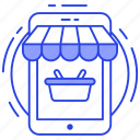 ecommerce, internet shopping, mobile shopping, online shopping, online store icon