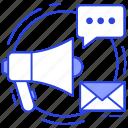 advertisement, digital marketing, email marketing, marketing, publicity icon