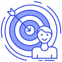 aiming, audience target, customer target, person target, potential customer, target market icon