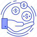 contribution, income, investment, profit, revenue icon