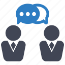 colleague, discussion, teamwork icon