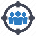 employment, recruitment, target audience icon