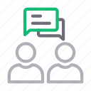 conference, conversation, discussion, meeting, users icon