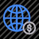 browser, dollar, global, online, world