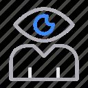 eye, profile, user, view, visible icon
