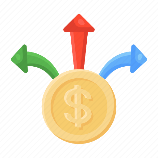 Cash, outflow, money direction, currency direction, money outflow, dollar outflow, cash outflow icon - Download on Iconfinder