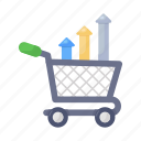 commerce, growth, shopping increase, shopping growth, commerce growth, shopping trolley, shopping cart