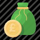euro, money, money bag, currency sack, money sack, euro bag, euro money icon