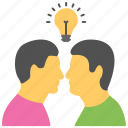 collaboration, combined idea, cooperation, employee interaction, people, teamwork icon