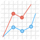 coordinate sales, growth analysis, line graph reporting, loss and profit, sales graph icon
