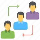 employee exchange, employee turnover, team management, team ranking, workforce icon