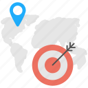 customer locationing, focused audience, geo targeting, location based targeting, map marker icon