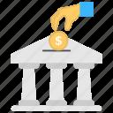bank monitoring, banking, financing, investment, savings icon
