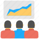 business presentation, effectiveness analytics, efficiency report, financial report, productivity analysis icon