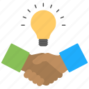brilliant collaboration, business idea, business relationship, new business, powerful deal icon