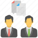 business dealing, business discussion, meeting, official conversation, personal dialogue icon