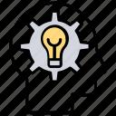 brain idea, critical thinking, knowledge management, problem solving, solution talk icon