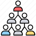company, personnel, staff, team hierarchy, team structure icon