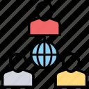 import export, international business, international trade, global business, worldwide business icon