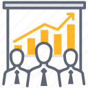 business, efficiency, management, report, team icon