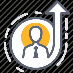 business, development, effectiveness, efficiency, level up, mvp, personal icon