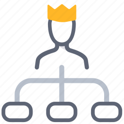 boss, business, ceo, king, management, manager, organization icon