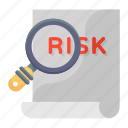 risk, assessment, risk analysis, risk assessment, find risk, risk research, search risk icon