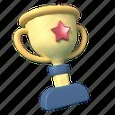trophy, award, winner, star