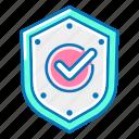 insurance, shield, checkmark, protection