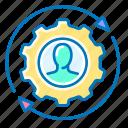 business, management, manager, user, avatar, gear