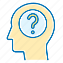 question, mark, head