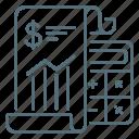 finance, calculator, report, sheet