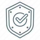 business, insurance, shield, checkmark, protection