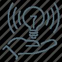 business, personal, idea, hand, light, bulb