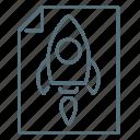 business, project, leaf, rocket, startup