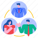 coordinating, business, teamwork, leadership, coordination, management, success