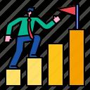 target, goal, strategy, performance, growth, achievement, bar