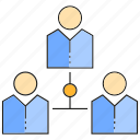 chart, diagram, organization, people icon