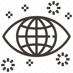 business, eye, globe, world icon